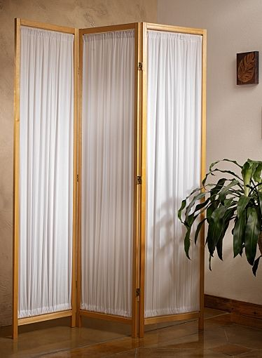 Fabric folding floor screen a folding screen can give any for Cheap decorative screens