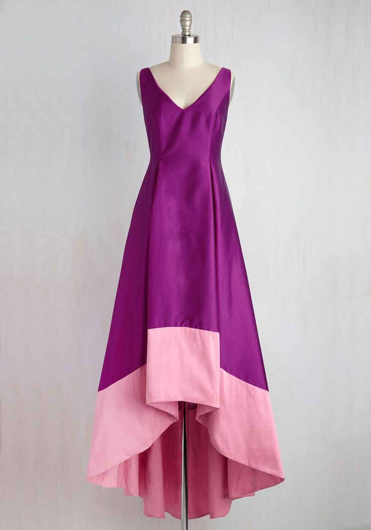 Strikingly Ladylike Dress. As you arrive at the event in this stunning fuchsia gown by Adrianna Papell, you exemplify flawless femininity. #pink #prom #modcloth