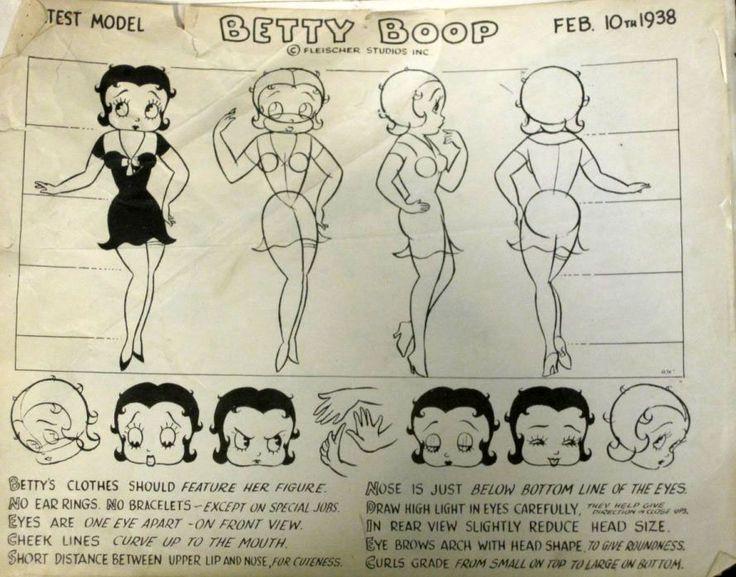 D Amp D Character Design Sheet : Betty boop model sheet art characters figures