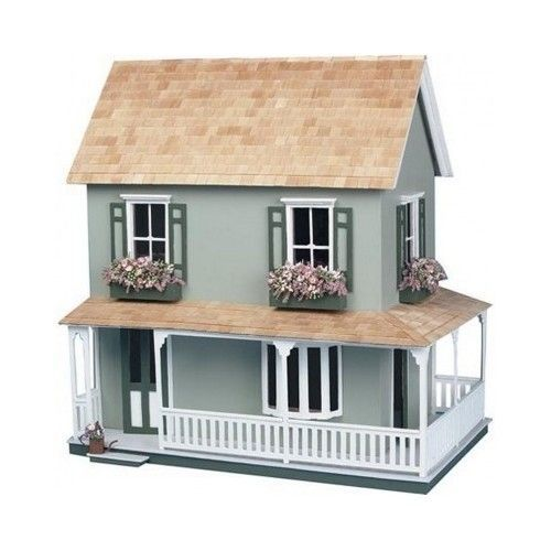 Doll House Kit Wooden 3 Stories 5 Rooms Hobbyist Collector Christmas Gift Toys