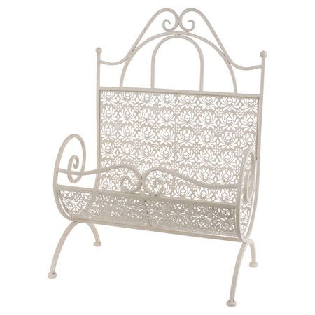 A charming addition to your country cottage or rustic scheme, this metal magazine holder features floral detailing and a cream finish. Team with pastel tones...