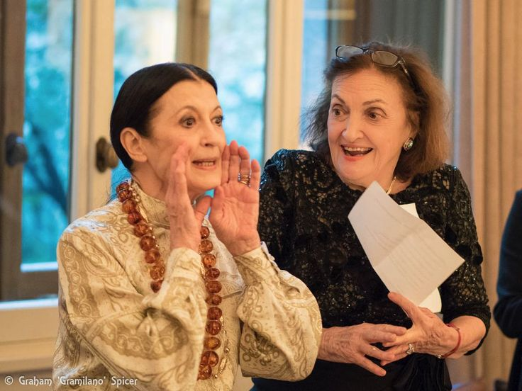 Anna Crespi, founder of the Amici della Scala association, organised a party to celebrate Carla Fracci's 80th birthday and launch her new book.
