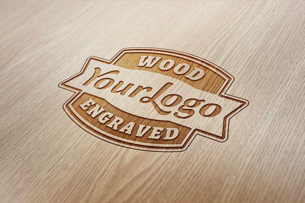GMF: Hot free download Wood Engraved Logo MockUp