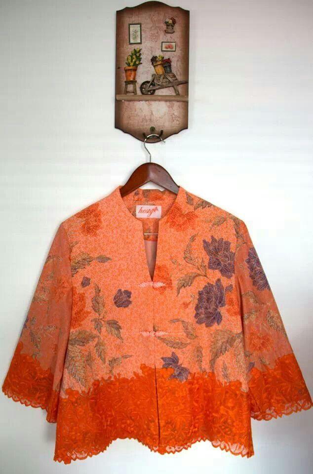 blouse Batik kombinasi brokat