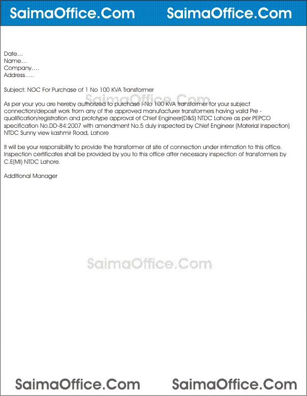 application request letter noc licence company lexis format for - no objection certificate for job