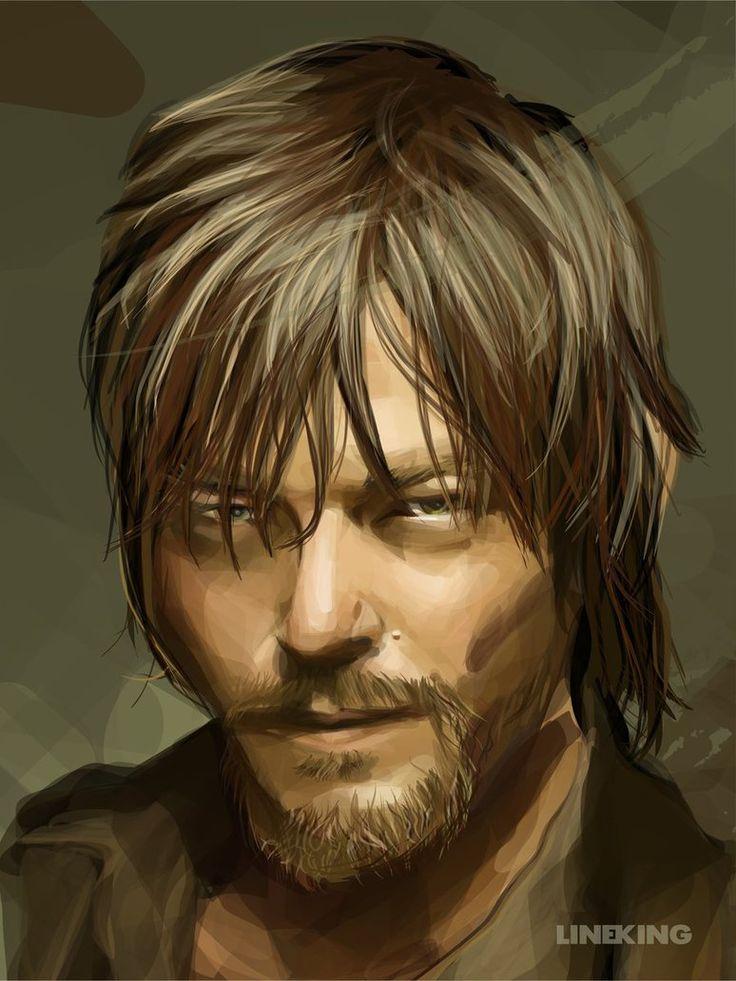 Daryl (The Walking Dead) by LINEKING: http://corl.co/1GLsCAr