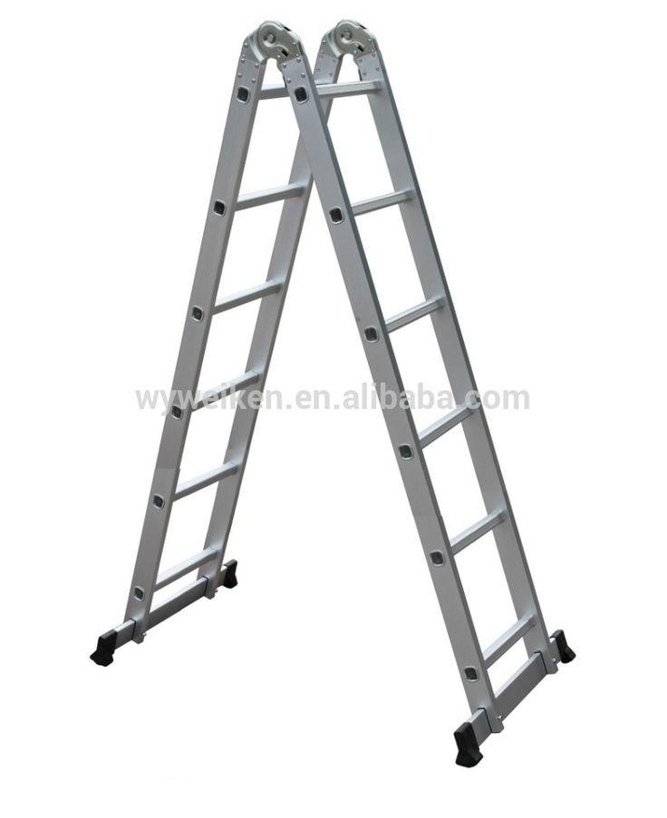 WK-206 folding aluminium ladder with hook