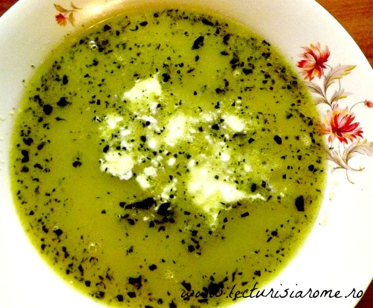 Supa crema de mazare cu menta - Lecturi si Arome