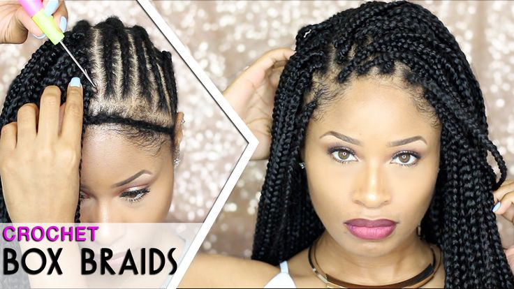 "Hey my lovelies! Today I'm here with a tutorial on how I did my crochet box braids. I used just under 7 packs of 24"" small crochet box braid hair for this an..."