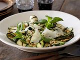 Grilled Zucchini Salad with Lemon-Herb Vinaigrette and Shaved Romano and Toasted Pine Nuts: Food Network, Bobby Flay, Grilled Zucchini, Nut Recipes, Shaving Romano, Toast Pine, Lemon Herbs Vinaigrette, Pine Nut, Zucchini Salad