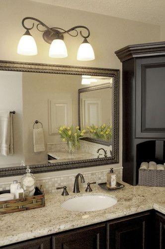 Bathroom L Shaped Vanity Design Love The Colors Here
