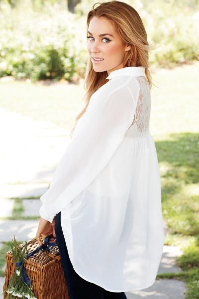 love the back on this blouse * LC Lauren Conrad fall collection