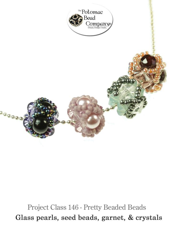 Pretty beaded beads from The Potomac Bead Company www.potomacbeads.com