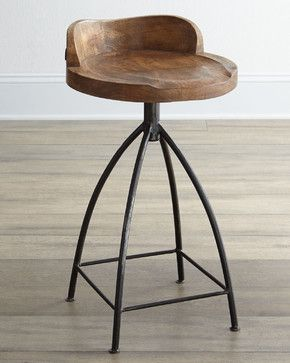 Arteriors Wooden Bar Stool Eclectic Bar Stools And Counter Stools