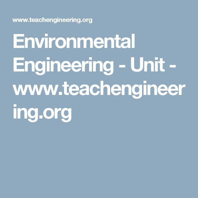Environmental Engineering   Unit