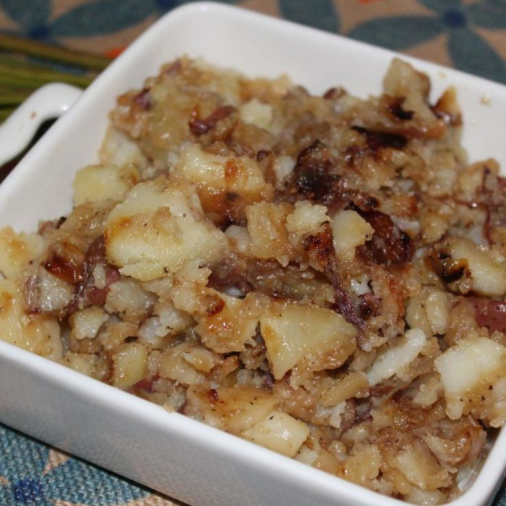 """One of our family favorite comfort foods, smothered potatoes and onions, great for any meal!"""