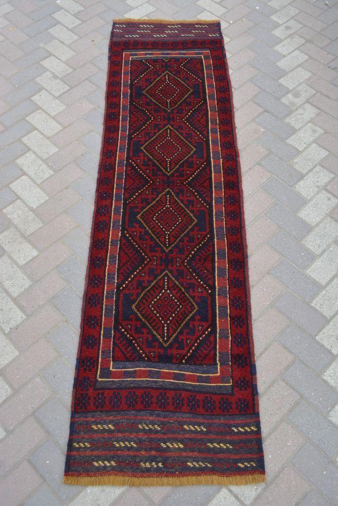 Afghan Tribal Decor Rug Kilim Mushvani Runner Persian Design Runner 2'2 x 7'11 #handmade #Tribal