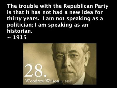 Image result for woodrow wilson on Republican Party