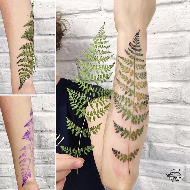 rit.kit on Instagram's plant tattoos. Ink the plant and use it as a transferunderlay