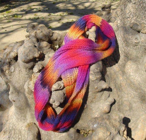 Qkdas-amy: Bufanda punto ingles una bufanda muy original, unos colores vivos