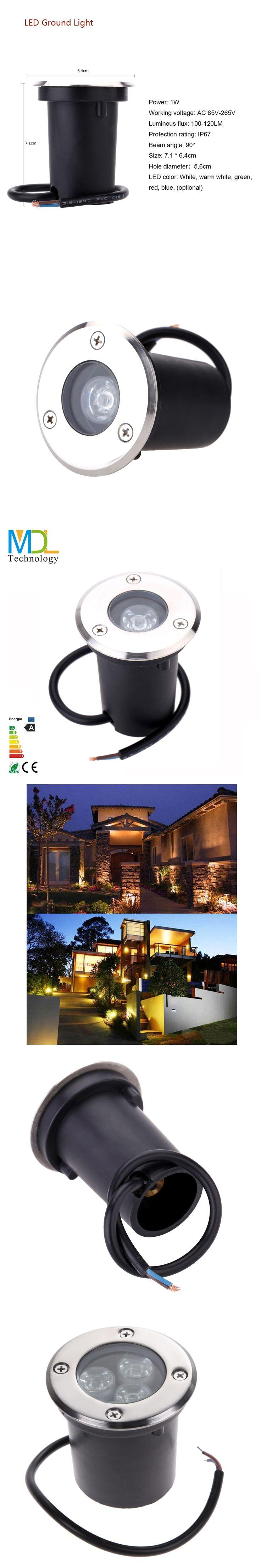 Waterproof LED Underground Light Lamp IP67 Outdoor Spot recessed inground Light 1W 3W Buried Garden Path Lamp AC100-240V