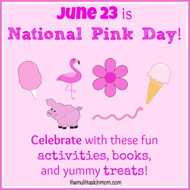 Celebrate National Pink Day with these fun snacks, books, and crafts! | themultitaskinmom.com