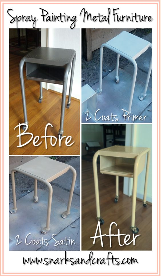spray paint metal on pinterest spray painting metal rustoleum spray. Black Bedroom Furniture Sets. Home Design Ideas