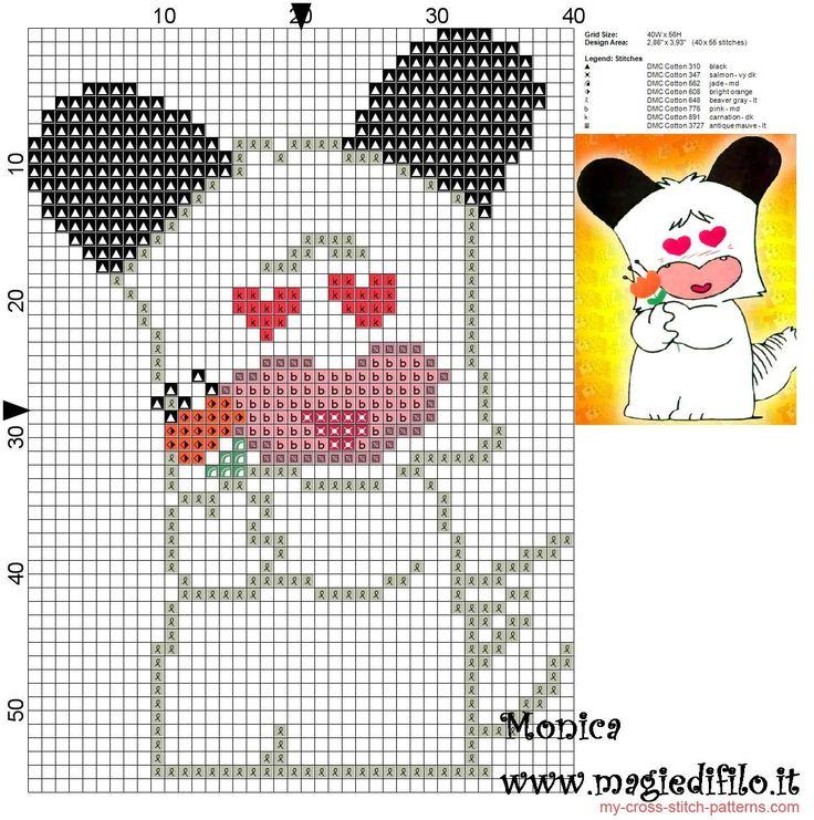 Spank (Good morning! Spank) cross stitch pattern