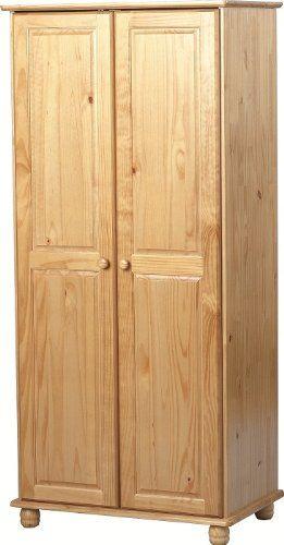 Sol 2 Door Wardrobe in Antique Pine