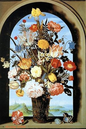 2D to 3D Conversions - Ambrosius Bosschaert Vase with Flowers