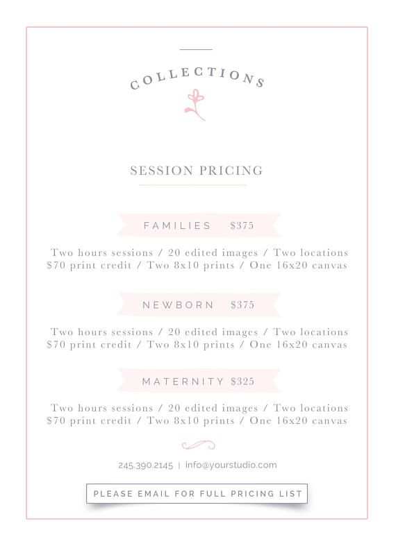 The 25+ best Photoshop price ideas on Pinterest Photoshop for - wedding price list