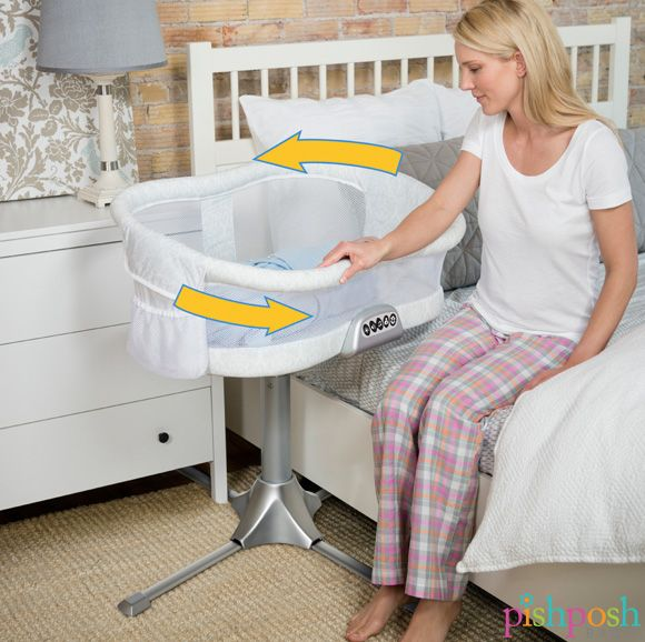 The Halo Bassinest makes co-sleeping safe and comfortable for both mom and baby. Sleep as close as you like, while keeping baby in his own cozy space. The Bassinest is the only bassinet that rotates 360° that lets mom get in and out of bed hassle free.  http://www.pishposhbaby.com/halo-bassinest.html