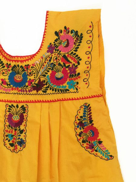 Yellow Long Dress - Handmade Embroidery - Summer Dress - available at azucarmaria.com