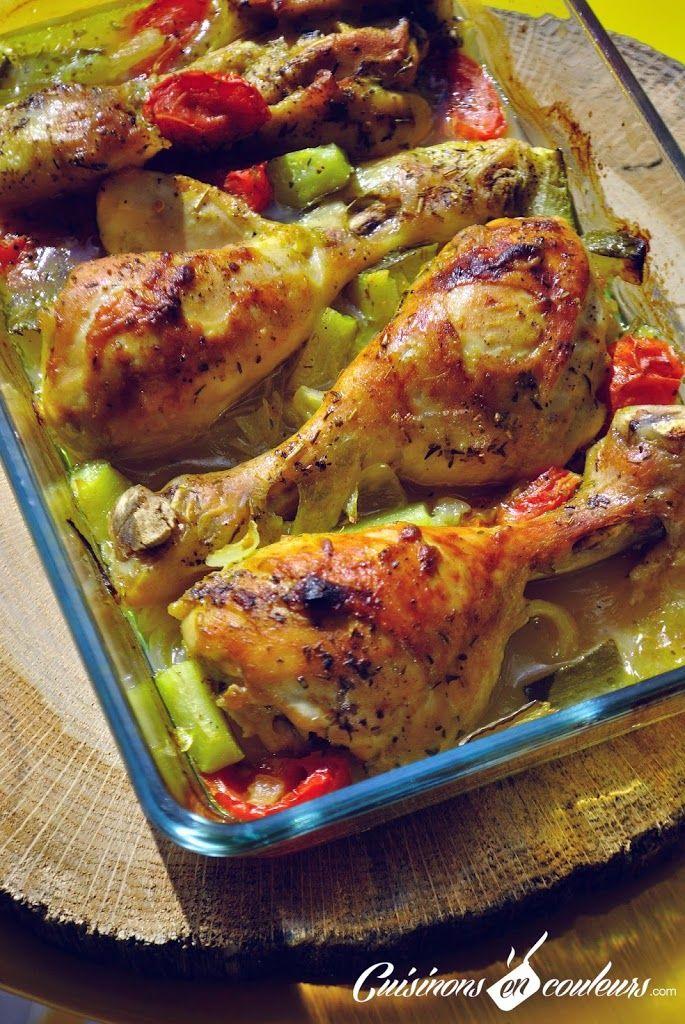 Cuisses de poulet marinées à la Savora et au citron rôties au four - Cuisinons En Couleurs