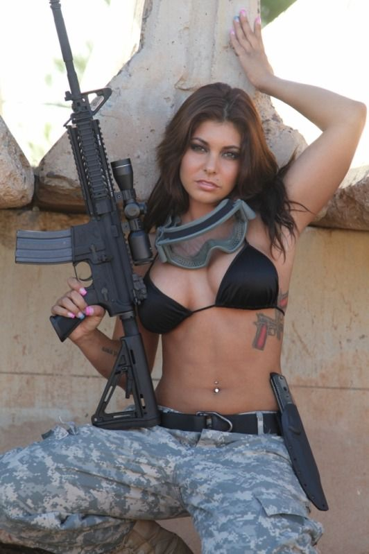 Are mistaken. military naked army girl holding a gun rather good