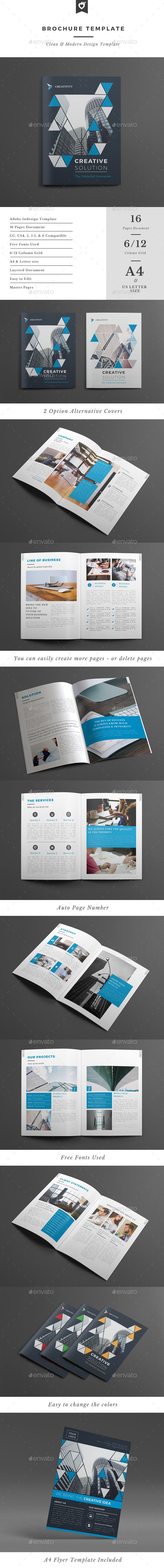 Multipurpose Brochure Adobe Indesign Template #design Download: http://graphicriver.net/item/brochure-template/12775521?ref=ksioks