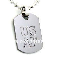 Горячие продажи ввс сша dog tag низкая prcie custom us военнослужащих и ветеранов военной dog tag дешевые на заказ Резные собака тег