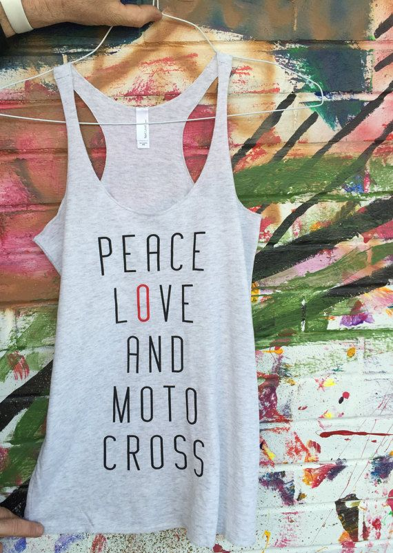 PEACE LOVE and MOTOCROSS Women's Motocross Shirt Tank by 151BRAND