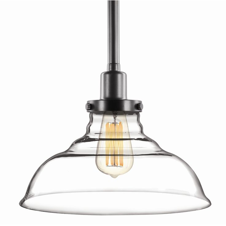 Brilliant Milton Clear Glass Pendant Light Shade Industrial Glassshade Mo