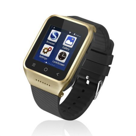 S8 Bluetooth 3.0 Smart Bracelet Watch (Android 4.4, 3G WCDMA, GPS, WiFi, Android Apps, HD Camera) - Golden