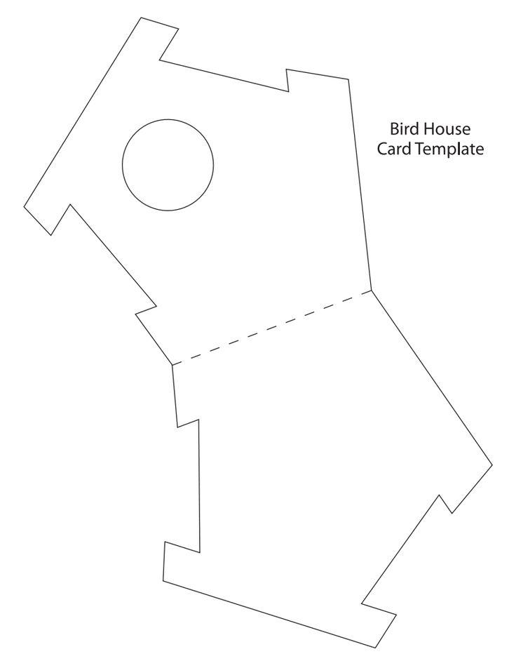 Открытки, открытка домик шаблон