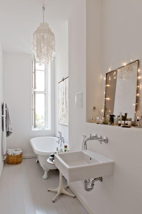 Bathroom with lovely details via Fantastic Frank.