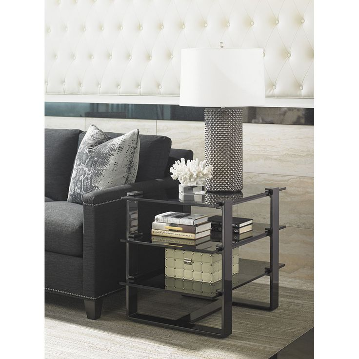 Lexington Home Brands Rhodium End Table 911-955C