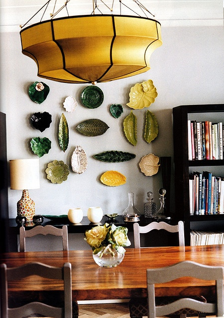 Leaf plate wall display: