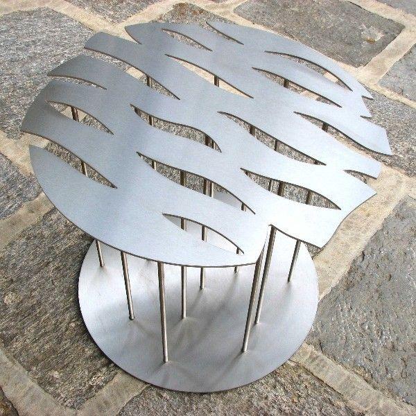 Tavolo acciaio orientale ombre cinesi dima design a mano