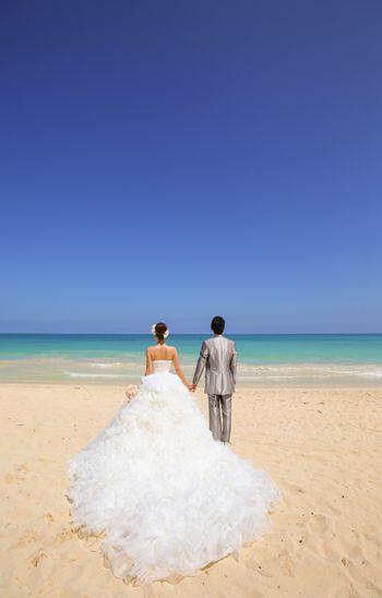 海外ウェディング特集 ハワイ挙式 ドレスは「フェアリー」のオーダー変更 姫がこだわり抜いたオリジナルドレスです♡