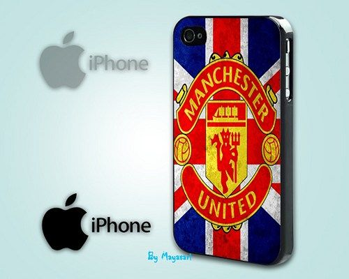 """Manchester United Logo Print on Hard Plastic For iPhone 5 Case, Black Case  This case is available for: iPhone 4/4S iPhone 5/5S iPhone 6 4.7"""" screen Samsung Galaxy S4 Samsung Galaxy S5 iPod 4 iPod 5"""