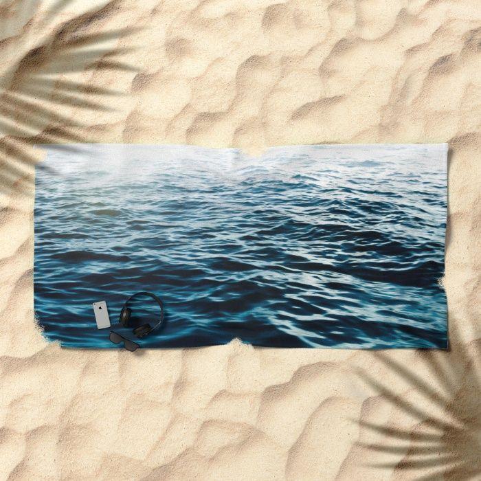 Blue Sea - Beach Towel by Nicklas Gustafsson #sea #ocean #waves #blue #landscape #seascape  #adventure #summer #travel #homedecor #wallart #canvas #artprint