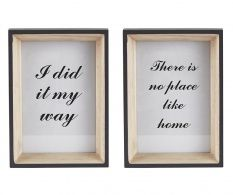Set 2 decoratiuni de perete Quote