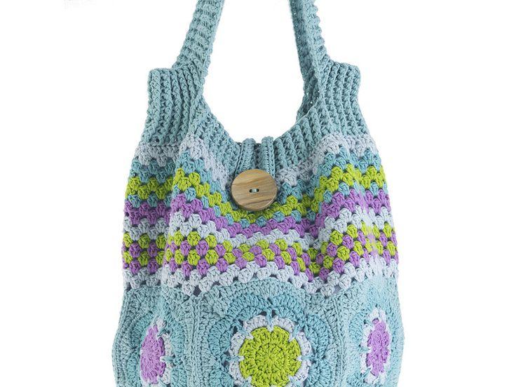 Bolsos al hombro - Bolso de bandolera lleno de color en crochet. - hecho a mano por TeresaNogueira en DaWanda